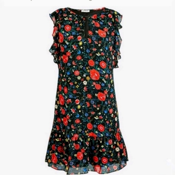 J. Crew Factory Dresses & Skirts - NEW J Crew Factory Printed Dark Floral Lined Dress